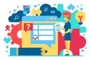 illustrazione vettoriale piatto di assistenza clienti