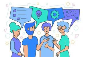 brainstorming di squadra, generazione di idee vettore