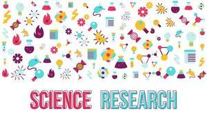 modello di vettore di banner piatto di ricerca di biologia