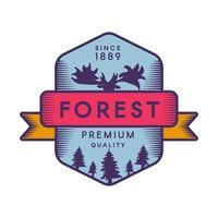 modello di logo di colore della foresta vettore