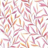 modello di foglie acquerello senza soluzione di continuità