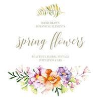 fiori di primavera dell'acquerello