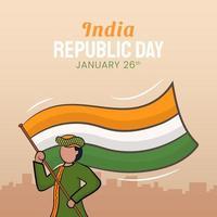 illustrazione disegnata a mano del giorno della repubblica indiana