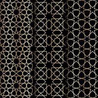 modello di geometria islamica vettore