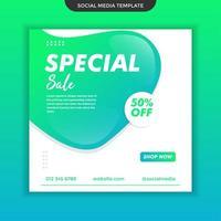 modello di social media di vendita speciale. vettore premium