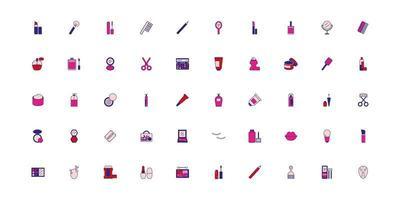pacchetto di compongono le icone degli accessori vettore