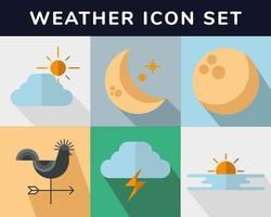 disegno vettoriale di raccolta di icone meteo