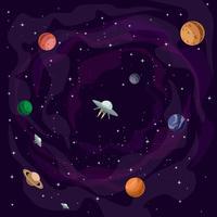 Vettore dell'illustrazione dell'universo