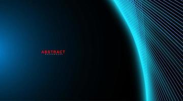 sfondo geometrico abstarct. onda linea incandescente sul buio. nuova texture per il tuo design. vettore