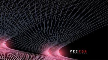 sfondo vettoriale astratta. linee curve su sfondo nero. disegno tecnologico. nuova texture per il tuo design.
