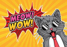 gatto pop art vettore