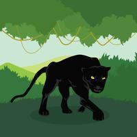 Illustrazione della pantera nera vettore