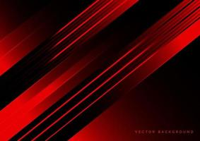 tecnologia astratta rossa e nera con linee diagonali sovrapposte. vettore