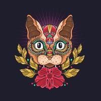 simpatico gatto ornamentale illustrazione vettoriale