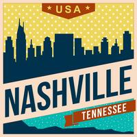 Paesaggio della città di Nashville vettore
