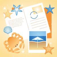 Elementi ed icone di viaggio di estate di vettore