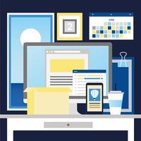 Vector elementi del desktop di Office