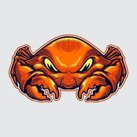 illustrazione della mascotte del granchio vettore