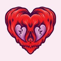 San Valentino cuore spezzato isolato vettore