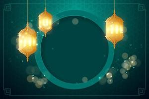 sfondo arabo con lanterna vettore