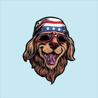 vettore di cane divertente animale americano