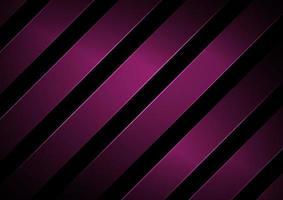 strisce astratte linee diagonali geometriche di colore rosa con illuminazione su sfondo nero. vettore