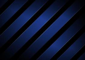 strisce astratte linee diagonali geometriche di colore blu con illuminazione su sfondo nero. vettore
