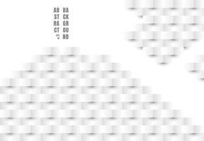 struttura astratta delle linee diagonali del modello di rettangolo bianco e grigio di stile di arte della carta 3d