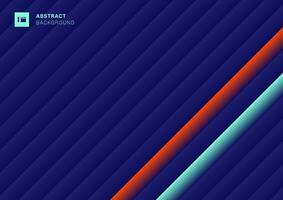 modello astratto strisce linee diagonali geometriche blu, verde, rosso vivace colore di sfondo vettore