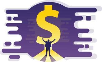 illustrazione successo di denaro aziendale vettore