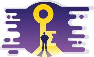 illustrazione vettoriale buco della serratura