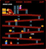 Retro logo del videogioco vettore