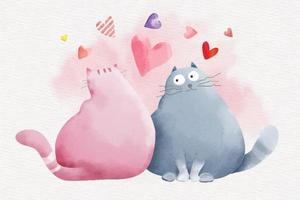 coppia di gatti carino san valentino vettore