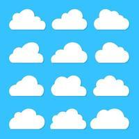 cloud set vettoriale