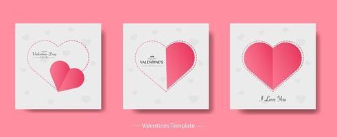 felice pacchetto di sfondo stile carta di san valentino vettore