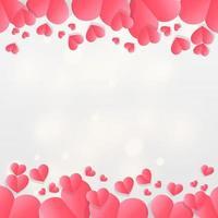 felice giorno di San Valentino astratto bokeh sfondo chiaro