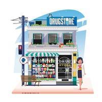 negozio di droga o farmacia vettore