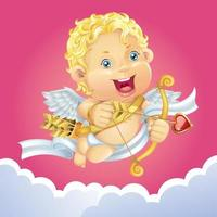 simpatico angelo cupido vettore