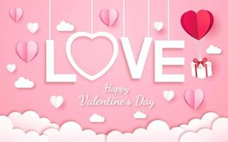 carta di San Valentino tagliata ok vettore