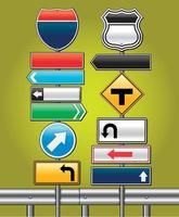 bordo dei segnali stradali. illustrazione vettoriale. vettore