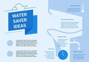 Eccezionale modello di infografica per l'acqua pulita vettore