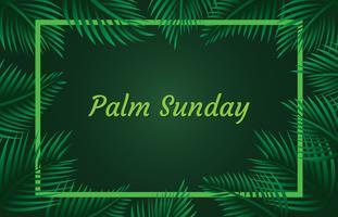 Sfondo di cornice domenica delle palme vettore