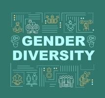 diversità di genere nella bandiera di concetti di parola della società vettore