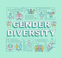bandiera di concetti di parola di diversità di genere vettore