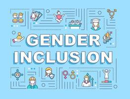 banner di concetti di parola di inclusione di genere vettore