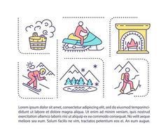 icona di concetto di tempo di spesa invernale con testo