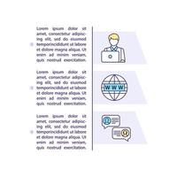 icona di concetto di agenzia di viaggi con testo