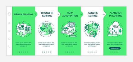 modello di vettore di onboarding innovazione agricoltura