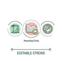 icona del concetto di crisi abitativa