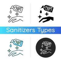 icona di disinfettante per le mani idratante